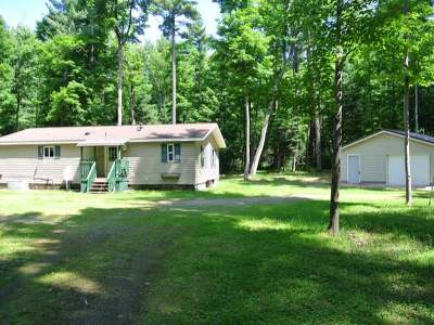 Three Lakes WI Single Family Home For Sale: $119,900