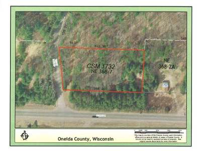 Rhinelander Residential Lots & Land For Sale: Lot 2 Velvet Lake Rd
