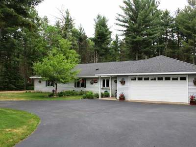 Eagle River WI Single Family Home For Sale: $229,900