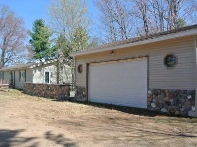 Lac Du Flambeau WI Single Family Home For Sale: $199,900