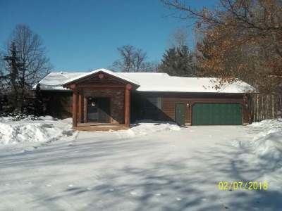Forest County, Iron Wi County, Langlade County, Lincoln County, Oneida County, Vilas County Single Family Home For Sale: W4756 Thunder Bay Dr