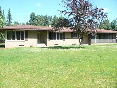 Park Falls Single Family Home For Sale: W7118 Hwy 182