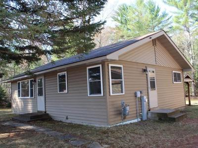 Eagle River WI Single Family Home For Sale: $117,500