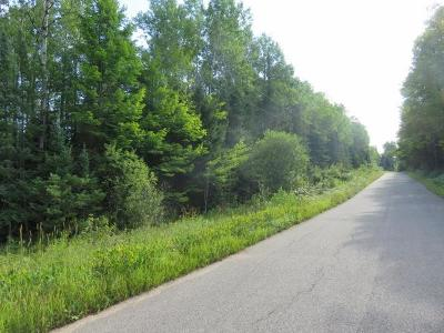 Rhinelander Residential Lots & Land For Sale: On Gagen Rd #19 acres
