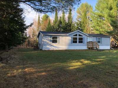 Forest County, Iron Wi County, Langlade County, Lincoln County, Oneida County, Vilas County Single Family Home For Sale: W169 Hildebrand Lake Rd