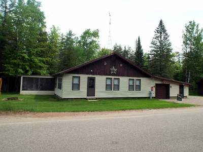 Forest County, Iron Wi County, Langlade County, Lincoln County, Oneida County, Vilas County Single Family Home For Sale: 8890 Pickerel Lake Rd