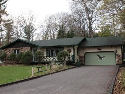 Eagle River WI Single Family Home For Sale: $129,900