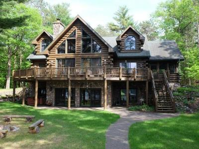 Minocqua WI Single Family Home For Sale: $2,250,000