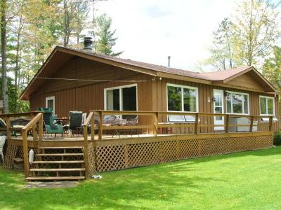Three Lakes WI Single Family Home For Sale: $269,900