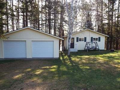 Forest County, Iron Wi County, Langlade County, Lincoln County, Oneida County, Vilas County Single Family Home For Sale: N3713 Polar Rd