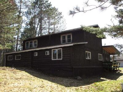 Forest County, Iron Wi County, Langlade County, Lincoln County, Oneida County, Vilas County Single Family Home For Sale: 1149 Fisher Lake Rd W