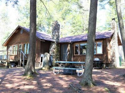 Forest County, Iron Wi County, Langlade County, Lincoln County, Oneida County, Vilas County Single Family Home For Sale: 7895 Palmer Lake Rd