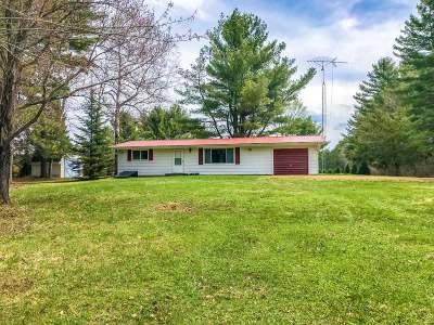 Forest County, Iron Wi County, Langlade County, Lincoln County, Oneida County, Vilas County Single Family Home For Sale: W6328 Hwy 8