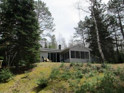 Forest County, Iron Wi County, Langlade County, Lincoln County, Oneida County, Vilas County Single Family Home For Sale: 3616 Kitzel Ln