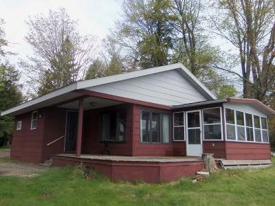 Forest County, Iron Wi County, Langlade County, Lincoln County, Oneida County, Vilas County Single Family Home For Sale: 3418 Tutts Rd
