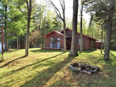 Minocqua Single Family Home For Sale: 8736 Squaw Lake Rd W