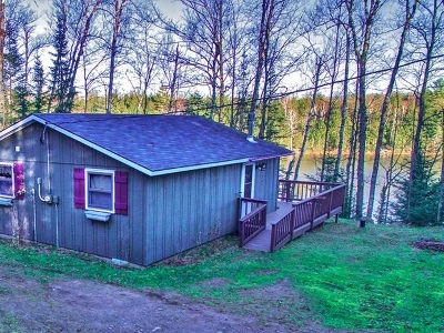 Forest County, Iron Wi County, Langlade County, Lincoln County, Oneida County, Vilas County Single Family Home For Sale: 7168 Hiawatha Lake Rd