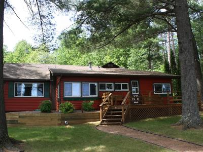 Minocqua Single Family Home For Sale: 1090 Gunlock Lake Ln S