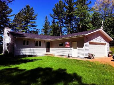 Forest County, Iron Wi County, Langlade County, Lincoln County, Oneida County, Vilas County Single Family Home For Sale: N11091 Callahan Rd
