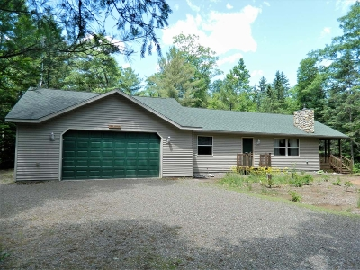 Lac Du Flambeau WI Single Family Home For Sale: $225,000