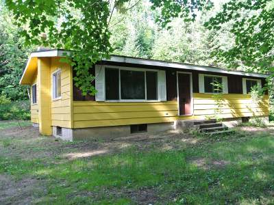 Three Lakes WI Single Family Home For Sale: $69,900
