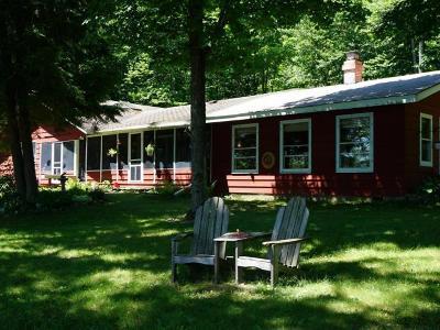 Lac Du Flambeau Single Family Home For Sale: 1500 Mitten Lake Rd