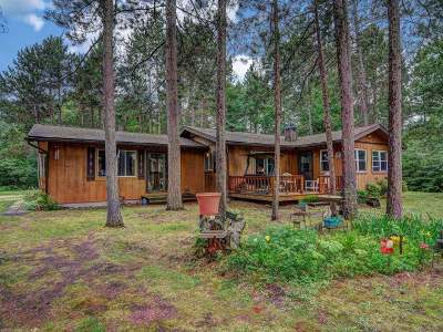 Forest County, Iron Wi County, Langlade County, Lincoln County, Oneida County, Vilas County Single Family Home For Sale: 12284 Warpath Ln