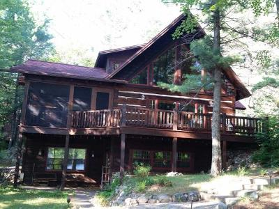 Minocqua Single Family Home For Sale: 10533 Hwy 70