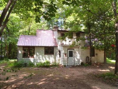 Forest County, Iron Wi County, Langlade County, Lincoln County, Oneida County, Vilas County Single Family Home For Sale: 2840 Lake George Rd E