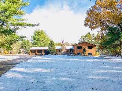 Minocqua Single Family Home For Sale: 8800 Minch Dr W
