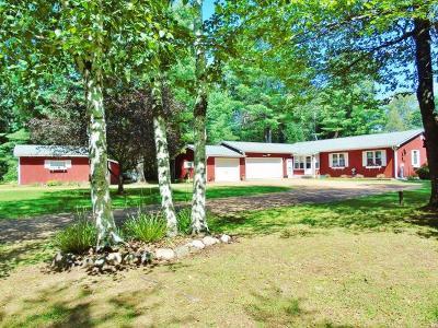Minocqua Single Family Home For Sale: 12420 Warpath Ln