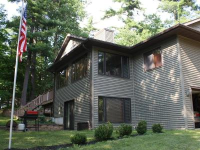 Minocqua Single Family Home For Sale: 10284 Blue Lake Rd