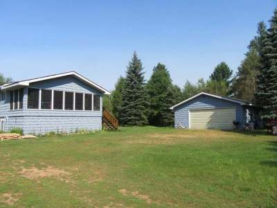 Lac Du Flambeau Single Family Home Active O/C: 1855 Cth F