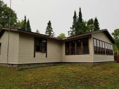 Forest County, Iron Wi County, Langlade County, Lincoln County, Oneida County, Vilas County Single Family Home For Sale: 7940n Hwy 51