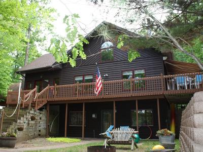 Minocqua Single Family Home For Sale: 7600 Blue Lake Pines Rd