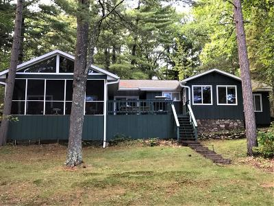Minocqua Single Family Home Active O/C: 1120 Gunlock Lake Ln S
