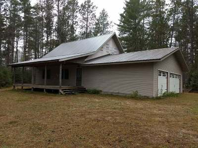 Forest County, Iron Wi County, Langlade County, Lincoln County, Oneida County, Vilas County Single Family Home For Sale: 18399 Megs Ln