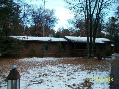 Minocqua Single Family Home For Sale: 11372 Hill And Dale Dr