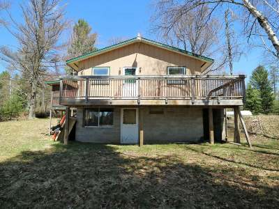 Forest County, Iron Wi County, Langlade County, Lincoln County, Oneida County, Vilas County Single Family Home For Sale: 4743 Flowage Rd E