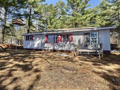 Forest County, Iron Wi County, Langlade County, Lincoln County, Oneida County, Vilas County Single Family Home For Sale: 4924 Flowage Landing Rd