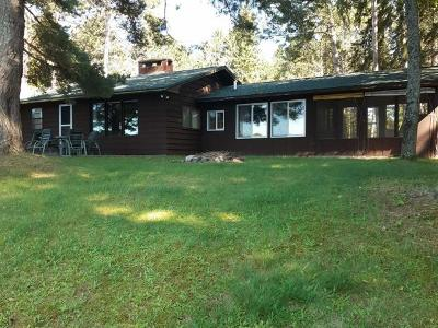 Forest County, Iron Wi County, Langlade County, Lincoln County, Oneida County, Vilas County Single Family Home For Sale: 2636w Cth J