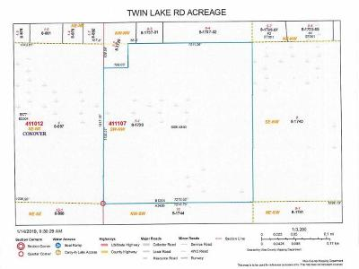 Residential Lots & Land For Sale: Off Twin Lake Rd