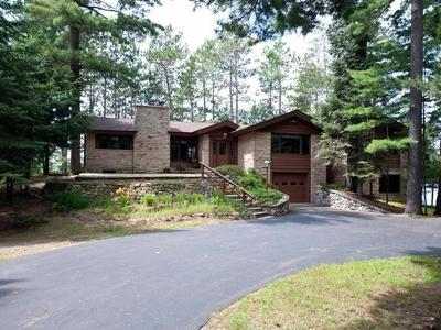 Vilas County Single Family Home For Sale: 6088 Oswego Fishtrap Lake Rd