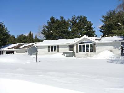 Three Lakes WI Single Family Home For Sale: $165,000