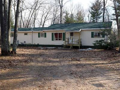 Minocqua Single Family Home For Sale: 11399 Hill And Dale Dr