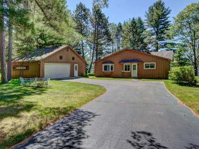 Forest County, Iron Wi County, Langlade County, Lincoln County, Oneida County, Vilas County Single Family Home For Sale: 2649 Nine Mile Rd
