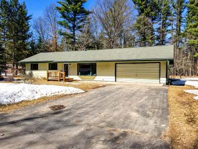 Tomahawk WI Single Family Home For Sale: $115,000