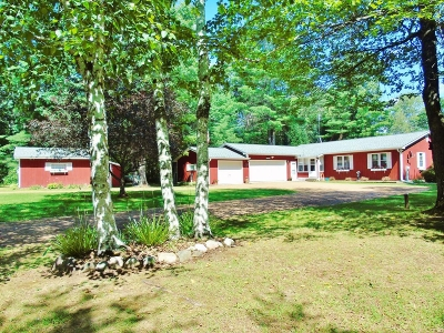 Minocqua Single Family Home For Sale: 12420 Warpath Ln
