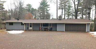 Manitowish Waters Single Family Home Active Under Contract: 13395 River Rd