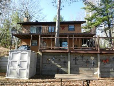 Minocqua Single Family Home For Sale: 8733 Bakely Cr W